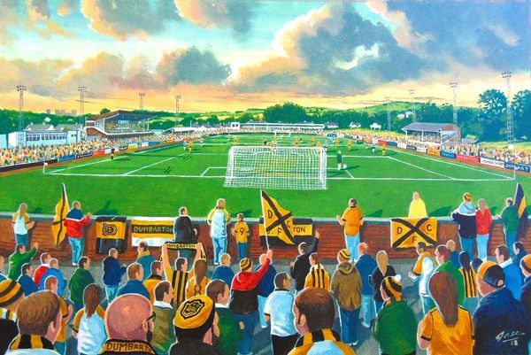 Boghead Park Stadium Fine Art - Dumbarton Football Club