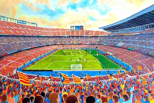 Camp Nou (Catalan pronunciation: [?kam?n?w], meaning new field, often referred to in English as the Nou Camp)[3][4] is the home stadium of FC Barcelona since its completion in 1957. With a seating capacity of 99,354,[5] it is the largest stadium in Spain and Europe