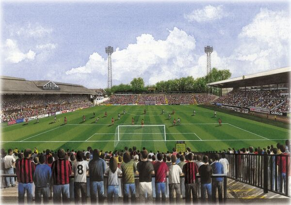 "Watercolour of Craven Cottage, home of Fulham F.C., 1896 - current day. Stadium capacity 25, 700. Original painting size 20"" x 16"" created in 1996 by Kevin Fletcher"