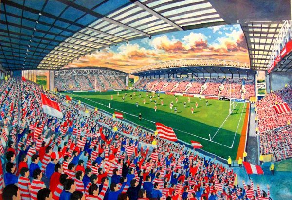 DW Stadium Fine Art - Wigan Warriors Rugby League Club