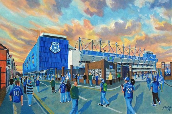 Goodison Park Stadium 'Going to the Match' Fine Art - Everton FC