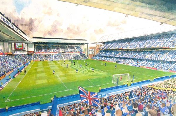 Ibrox Stadium Fine Art - Rangers Football Club
