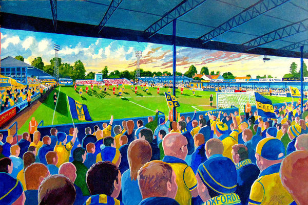 Manor Ground Stadium Fine Art - Oxford United Football Club