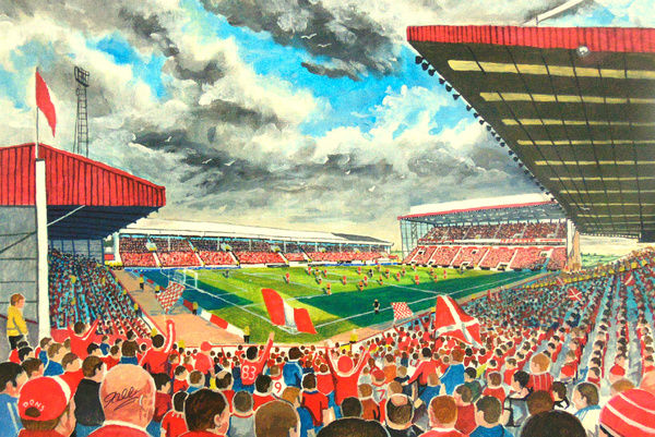 Pittodrie Stadium Fine Art - Aberdeen Football Club