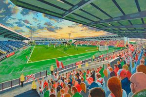 Excelsior Stadium Fine Art - Airdrieonians Football Club