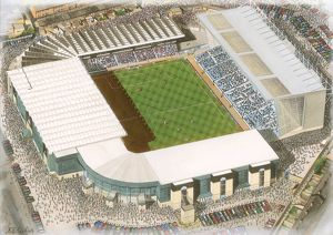 stadia yesteryear/maine road art manchester city